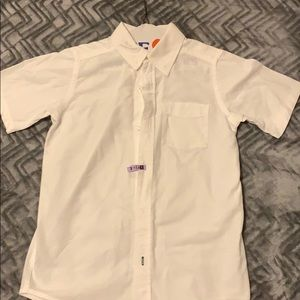 Boys Size M (7/8) Short Sleeve White Uniform Shirt